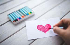 Wasco kleurtjes en een hartje
